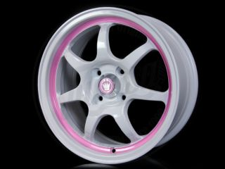 Konig Forward Rims White Pink 15 4x100 Civic Integra