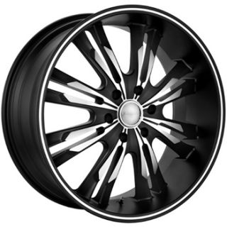 22x9 5 Black Panther Burst Wheels 5x4 5 Rims