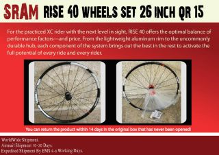SRAM Rise 40 Wheels Set 26 inch QR 15 2012 Mountain Bike Worldwide