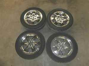 Chevy Silverado 20 20x8 Chrome Wheels Rims Tires