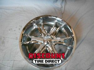 Used 22x9.5 6x139.7 6 139.7 Coil 6 Spoke Chrome Wheels/Rims