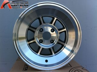 15x7 Rota Shaktan 4x114 3 0 Full Royal Black Fits AE86 Altima Sentra
