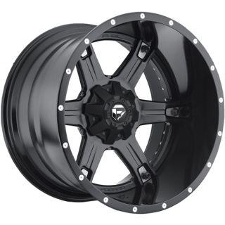 20x12 Black Fuel Driller Wheels 8x170  44 Lifted FORD F 250 F350
