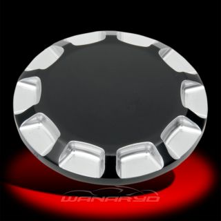 Straight Cut Gas Cap Non Vented Chrome for 84 96 Harley Models
