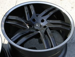 Koko KOUTURE Spline 20 Black Rims Wheels Honda Odyssey Ridgeline