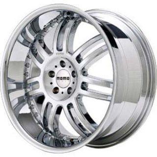 Momo ZUV Wheels 20x8 5 Chrome 4 Rims Cadillac Cts
