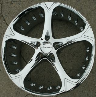 Giovanna Dalar 5V 20 Chrome Rims Wheels Camry Highlander 20 x 8 5 5H