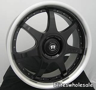18x7 5 Black Wheels Rims Motegi FF7 5x100 5x4 5
