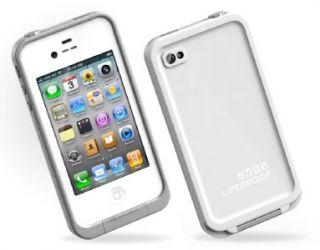 White Lifeproof Ultra Thin Waterproof Shell iPhone 4 Waterproof Case