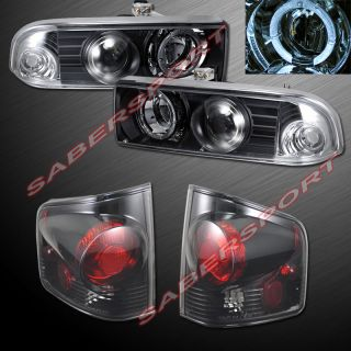 1998 2004 CHEVY S10 PICKUP BLACK HALO PROJECTOR HEADLIGHTS + ALTEZZA