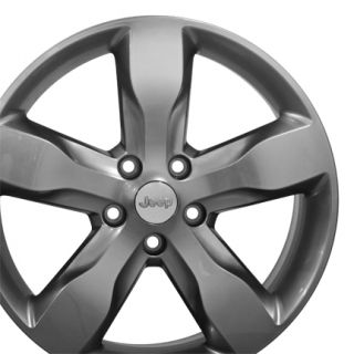Grand Cherokee Hyper Silver Overland Wheels Set of 4 9107 Rims