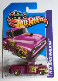 Hot Wheels 2013 211 HW Showroom Custom 56 Ford F 100 Mint on Card