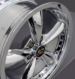 Single 20x8 5 Chrome Bullitt Wheel Fits Mustang® 94 04