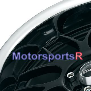 17 XXR 006 Black Wheels 03 06 Scion XA XB Rims 95 99 Honda Civic EX SI