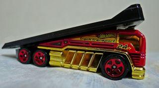 Hot Wheels Red Back Slider Diecast Track Transport Hauler Truck HW