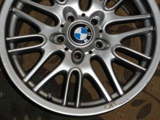 BMW 17 Aluminum Alloy Wheels M5 Rims w Center Caps Emblems Germany