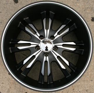 Panther Burst 908 20 Black Rims Wheels Dodge Magnum RT Base 20 x 9 0