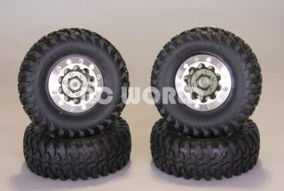 RC4WD Aluminum 1 9 Wheels with Tomahawk Tires for 1 10 Rock Crawler 1