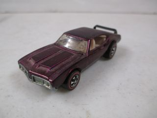 Vintage Hot Wheels Redline Olds 442 Die Cast Car 1969 Mattel