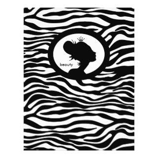 Beauty Salon Flyer Hair Zebra Black Crown flyers by spacards