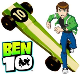 Ben 10 Pinewood Derby Car Kit Xtreme Speed Derby Monkey 4006