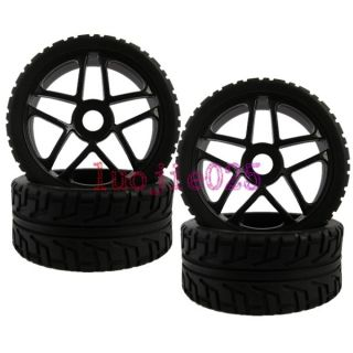 Road Car Buggy Street Foam Rubber Tyres Tires Wheel Rims black 85B 803