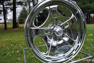 17x7 Rev 101S Chrome Classic Wheels Chevy Chevelle Pontiac Olds Ford