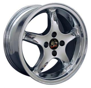 Single 17x8 Chrome Cobra R Wheel 4 Lug Fits Mustang® 79 93