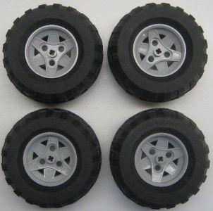 Lego Technic Wheels Lot Cars Vehicles Trucks Gray Big Large Tires 81
