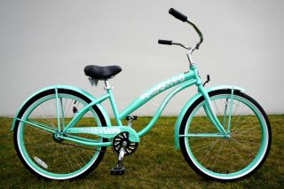 26 Lady Beach Cruiser Bike Bicycle Single Speed by Greenline Color