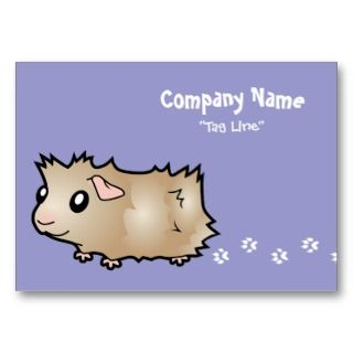 Cartoon Guinea Pig (lilac) Business Cards