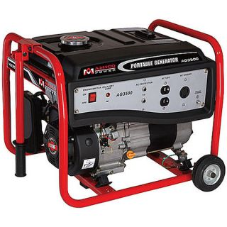 Portable Gasoline Generator w/ Wheel Kit ~ Gas Powered Motor + Wheels