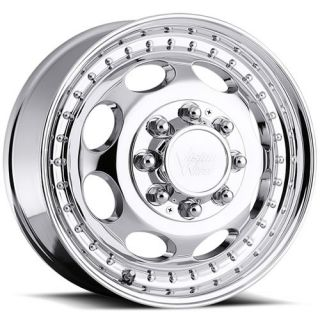 19 5x6 75 Machined Wheel Vision Hauler Dually 181 Front 8x6 5