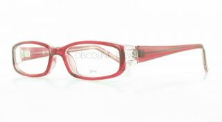 Soho 84 Stylish Plastic Eyeglasses Frames Red Clear