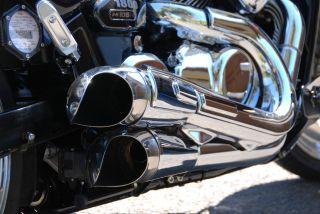 2006 2012 Suzuki Boulevard M109R Scorpion Exhaust Tips from Raw Design