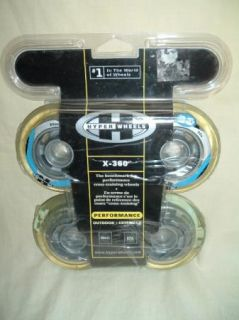 Hyper Wheels x 360 Clear 8 mm 82A Pkg of 4 Inline Skates Fitness Cross