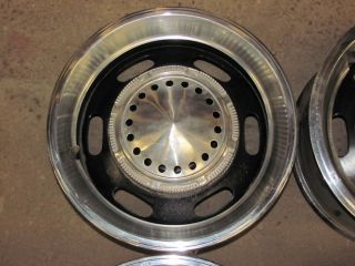 Dodge Plymouth 15x7 Rally Wheels Rims Cop Car Set 4