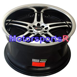 Black Machine Rims Wheels Staggered 90 91 93 94 95 96 Nissan 300zx TT