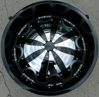 RVM 620 22 Black Rims Wheels Chevrolet Trailblazer