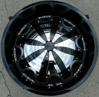 RVM 620 22 Black Rims Wheels Chevrolet Trailblazer