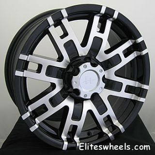 17x8 Black Wheels Rims Helo HE835 5x5 5