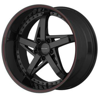 18x10 Black Wheels Rims KMC KM187 5x4 5