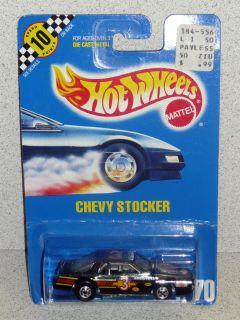 Hot Wheels 1990 blackwall Chevy Stocker Blue Card MOC 70 Malaysia