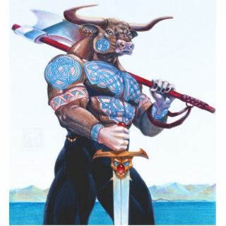 Daedalus Minotaur of Crete stand up Photo Cut Out
