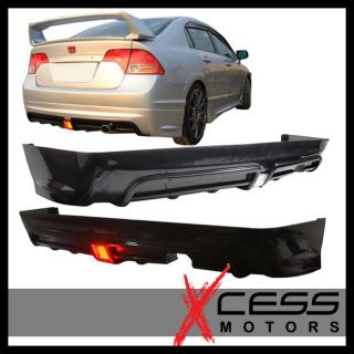 06 11 Honda Civic 4Dr Sedan Mu style RR (PP) Rear Bumper Lip Spoiler