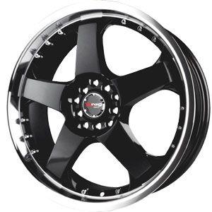 New 17X7 4 100/4 114.3 Dr 11 Gloss Black Machined Wheels/Rims