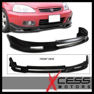 99 00 Honda Civic EK JDM 2 JS Style Front Bumper Lip Spoiler Bodykit