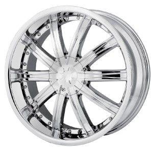 22 inch DIP Ice Chrome Wheels Rims 5x115 Lucerne Park Avenue Pasage