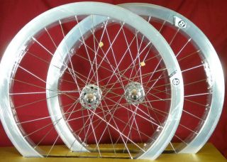 2012 Origin 8 Track Fixed Gear Wheelset Silver Fixie SS