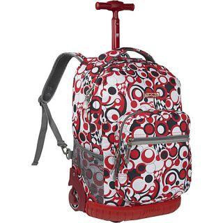 World Sunrise Rolling Backpack Chess Red